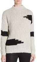 Line Handknit Mockneck Sweater