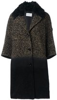 Yves Salomon three-quarters sleeve knit coat - women - Silk/Polyamide/Polyester/Virgin Wool - 38