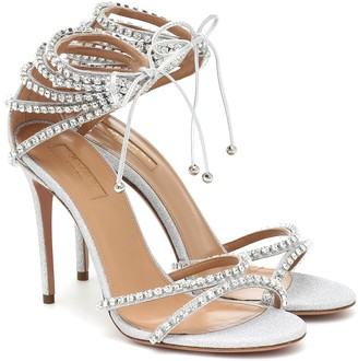 Aquazzura Luminous 105 crystal-embellished sandals