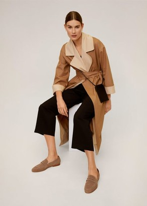 MANGO Leather moccasin medium brown - 6A - Women