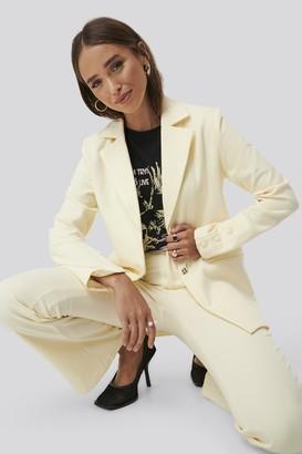 NA-KD Erica Kvam X Oversized Blazer Yellow