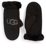 UGG Australia 'Heritage Logo' Genuine Shearling & Suede Mittens