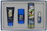 Christian Audigier Ed Hardy Love & Luck by for Men Love is a Gamble 4 Piece Set Includes: 3.4 oz Eau de Toilette Spray + 0.25 oz Eau de Toilette Spray + 3.0 oz Hair & Body Wash + 2.75 oz Deodorant Stick Alcohol Free