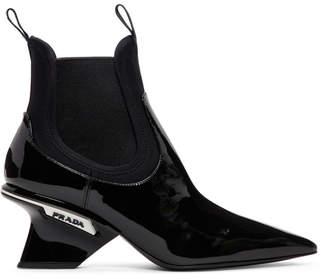 Prada Black Patent Leather Boots