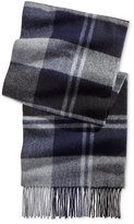 Club Room Men's Offset Plaid Cashmere Scarf, Only at Macy's