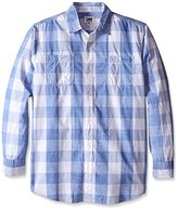 Lee Men's Textured Worker Plaid Shirt (Regular and Big and Tall Sizes)