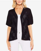 Vince Camuto Cotton Pointelle Cardigan