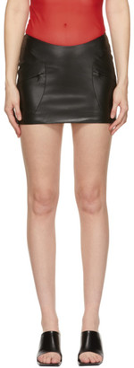 Misbhv Black Faux-Leather Trinity Miniskirt