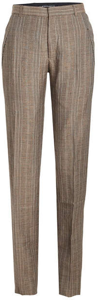 Y/Project Striped Pants in Wool and Linen