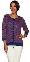C. Wonder As Is 3/4 Sleeve Scallop Pattern Knit Cardigan