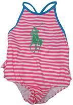 Ralph Lauren Infant Girl's Big Pony Swimsuit Striped