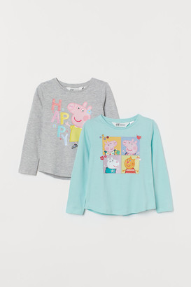 H&M 2-Pack Printed Tops