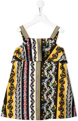 Oscar De La Renta Kids Floral Print Shift Dress
