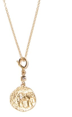 Azlee Elefante 18kt Gold And Diamond Necklace - Yellow Gold
