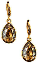 Givenchy Goldtone Teardrop-Shaped Crystal Drop Earrings