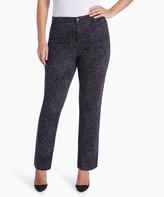 Gloria Vanderbilt Black Geometric Amanda Jeans - Plus