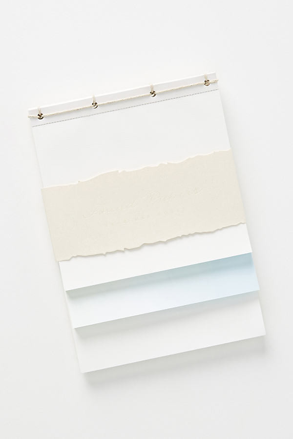 Found Papers Desk Pad By Anthropologie in Blue Size ALL