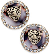 Thalia Sodi Gold-Tone Leopard Head Stud Earrings, Only at Macy's