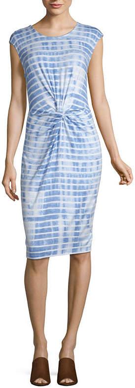 Ibiza Waves Short Sleeve Tie Dye Shift Dress