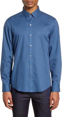 Zachary Prell Larson Regular Fit Stretch Button-Up Shirt