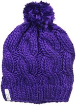 Coal Women's The Rosa Chunky Cable Pattern Beanie with Pom Pom