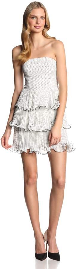 Erin Fetherston Erin Women's Sweet Pea Polka Dot Chiffon Strapless Dress