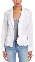 Three Dots Contrast Linen Blazer.
