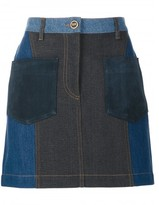 Sonia Rykiel patchwork denim skirt