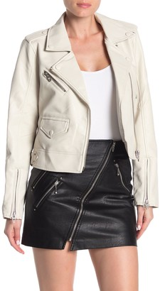 Blanknyc Denim Faux Leather Moto Jacket