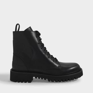 Valentino Garavani Combat Boots 35Mm In Black Leather