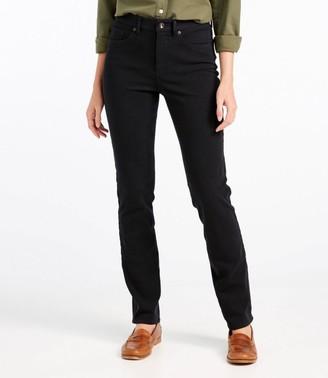 L.L. Bean Women's Super Stretch Slimming Jeans, Classic Fit Straight-Leg