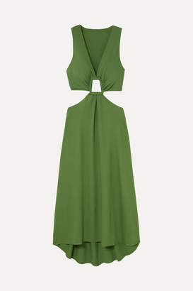 Cult Gaia Cybele Cutout Crepe Dress - Green