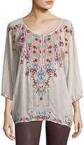 Johnny Was Dolora Embroidered Georgette Blouse, Plus Size