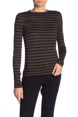 Vince Heathered Stripe Long Sleeve T-Shirt