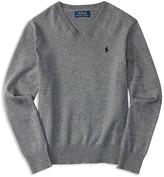 Ralph Lauren Boys' Cotton Elbow Patch Sweater - Sizes S-XL