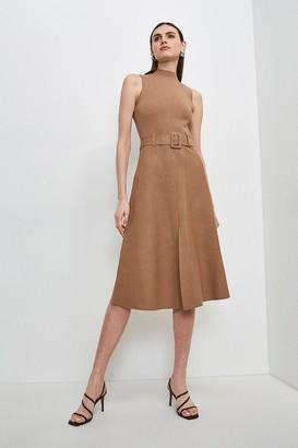 Karen Millen Knit Belted Midi Dress