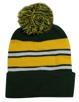 City Hunter Unisex Sk908 Stripe Winter Knit Beanie Pom Hat - 23 Colors
