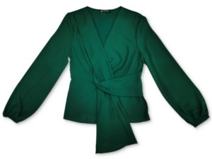INC International Concepts Inc Drape-Front Top, Created for Macy's