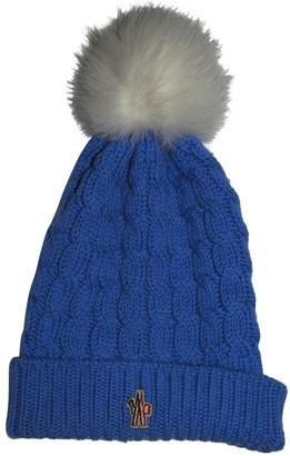 Moncler Blue Wool Hats