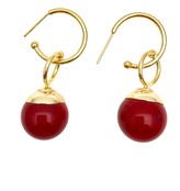 Farra Nugget Red Bamboo Coral Earrings
