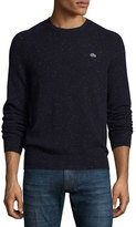 Lacoste Donegal Crewneck Sweater, Cosmos/White