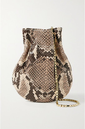 TL-180 Le Mini Fazzoletto Snake-effect Leather Shoulder Bag - Snake print