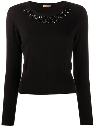 Liu Jo Bead Detail Knitted Jumper
