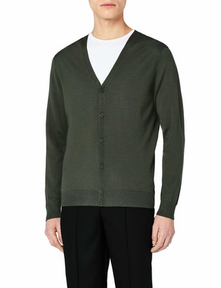Meraki Men's Fine Merino Wool V-Neck Cardigan