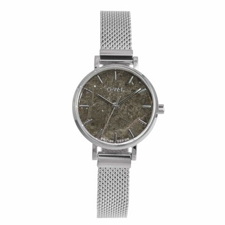OWL Women's Analogue Japanese Quartz Watch with Stainless Steel Strap A10MSGM