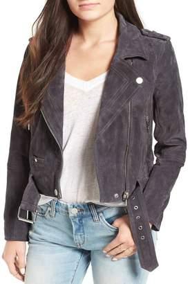 Blank NYC BLANKNYC Denim Morning Suede Moto Jacket