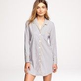 Nightshirt in end-on-end stripe cotton