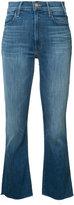 Mother cropped kick jeans - women - Cotton/Polyester/Spandex/Elastane - 30