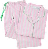Needham Lane Palmer Long Sleeve Pajamas, Pink/Green
