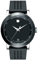 Movado Men's 'Museum' Rubber Strap Watch, 42Mm